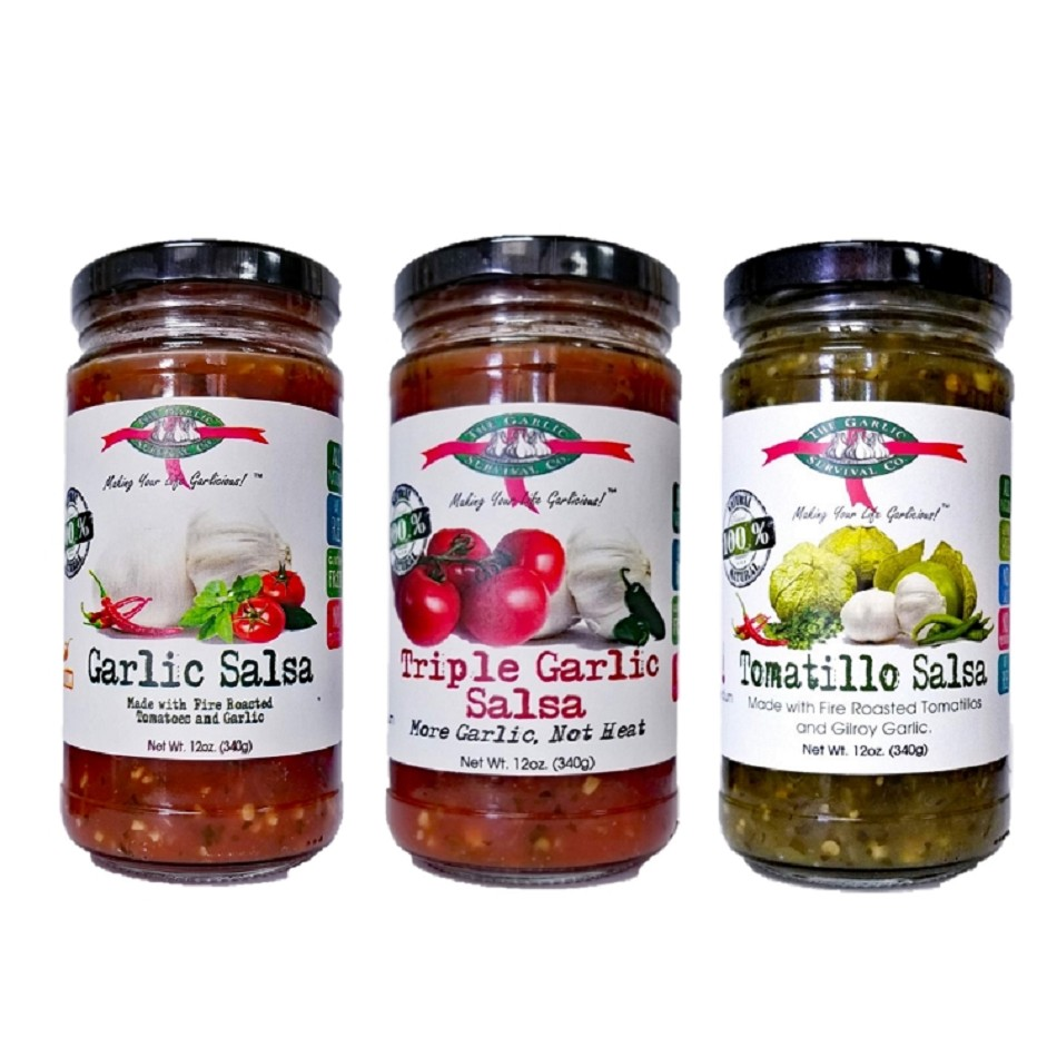 Garlic Survival Mix-N-Match Garlic Salsa (Case of 12/8.5 oz.)