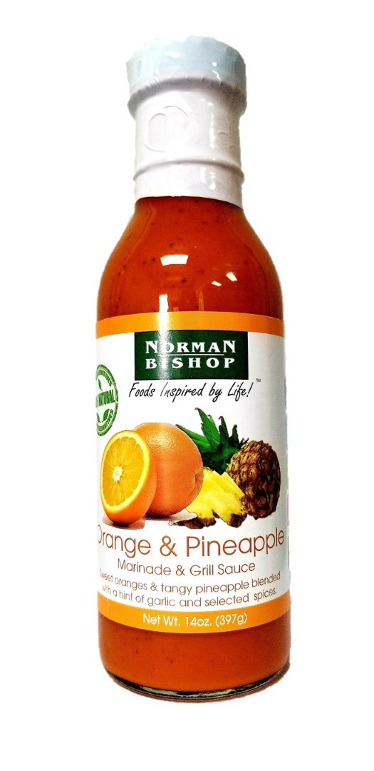 Norman Bishop Orange & Pineapple Grill Sauce Case of 12
