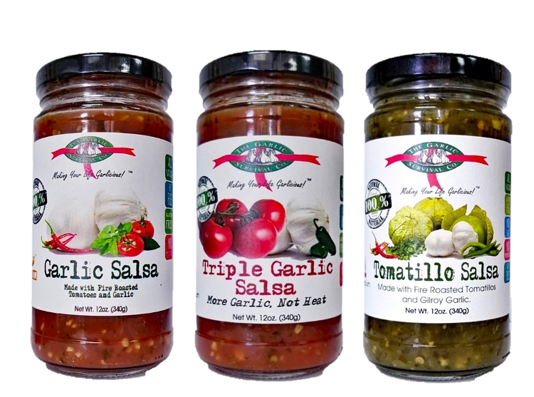 The Garlic Survival Company Mix-N-Match Garlic Salsa Case of 12