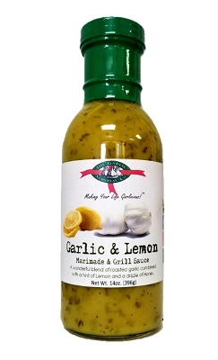 The Garlic Survival Company Garlic Lemon Marinade & Grill Sauce