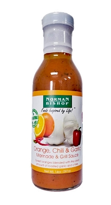 Norman Bishop Orange Chili & Garlic Grill Sauce & Marinade Case of 12