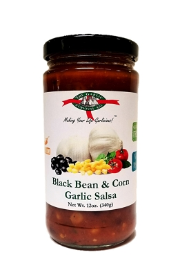 The Garlic Survival Company Black Bean & Corn Garlic Salsa