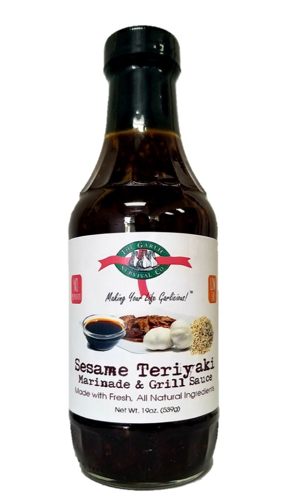 Garlic Survival Sesame Teriyaki Marinade & Grill Sauce Case of 12