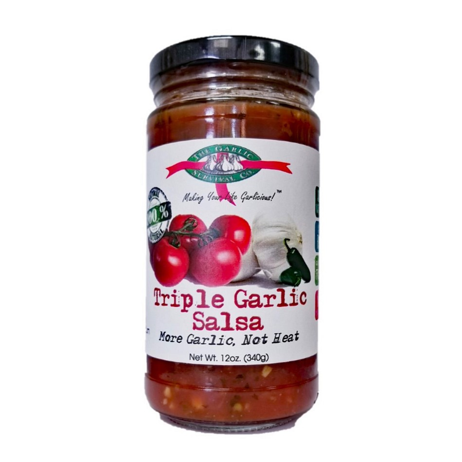 The Garlic Survival Company Triple Garlic Salsa
