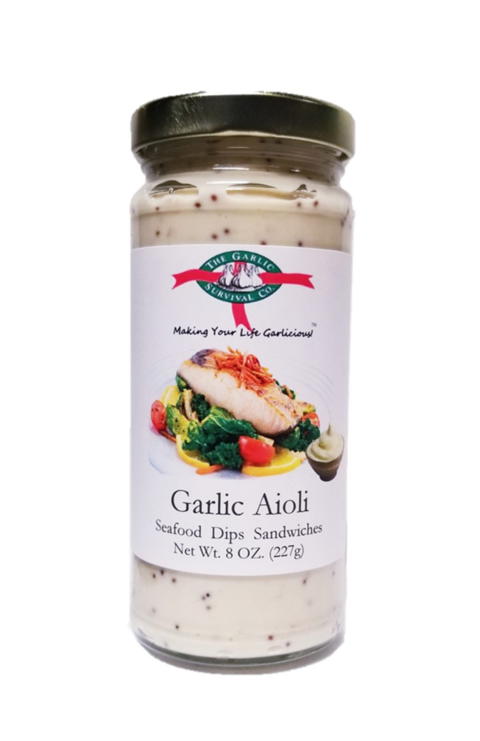The Garlic Survival Company Garlic Aioli Case of 12 - FREE SHIPPING