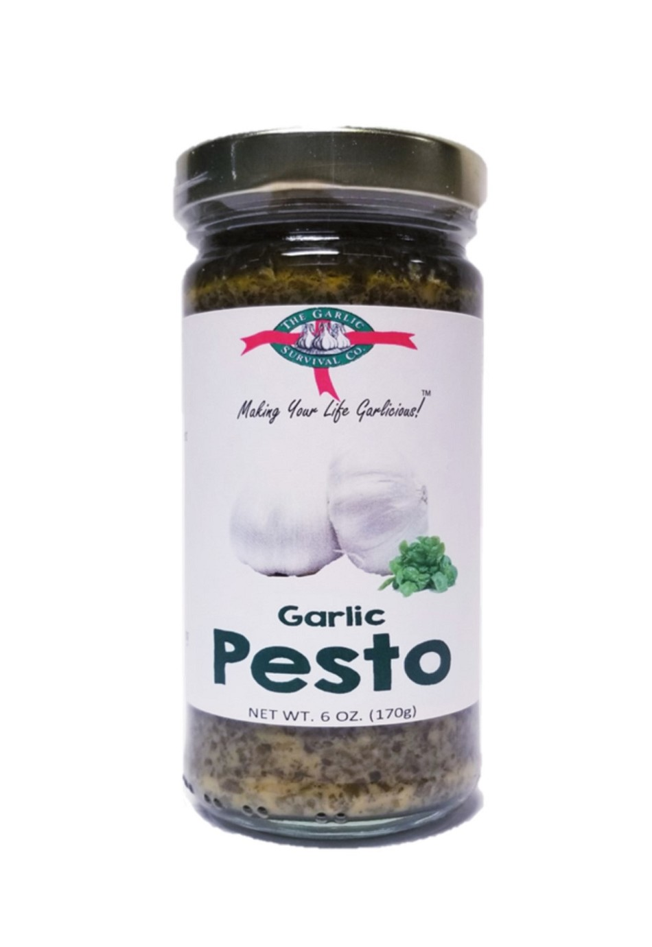 The Garlic Survival Company Garlic Pesto Sauce Case of 12